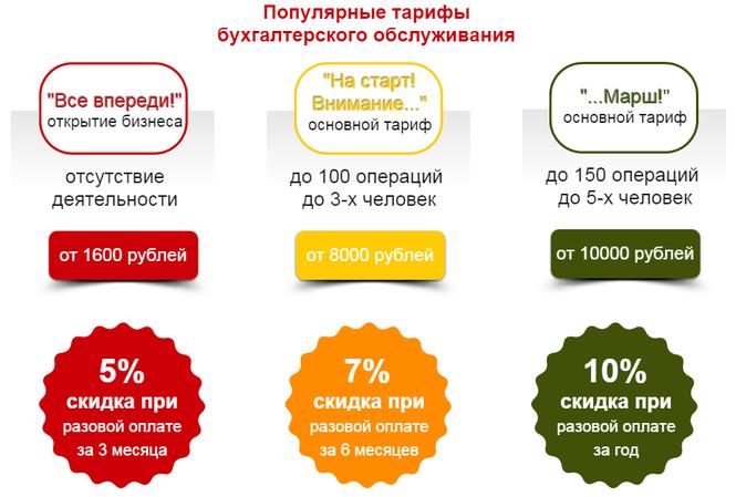 Тариф бухгалтерское обслуживание предложения по улучшению организации работы бухгалтера